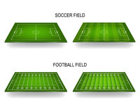 Soccer and football fields Stock Photo