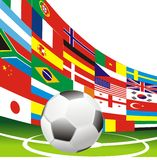 Soccer football flags Stock Image