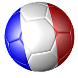 Soccer football with French flag Stock Photos
