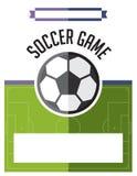 Soccer Football Game Flyer Illustration Stock Photo