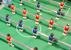 Soccer football game machine closeup Royalty Free Stock Images