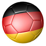 Soccer football with german flag Royalty Free Stock Photography