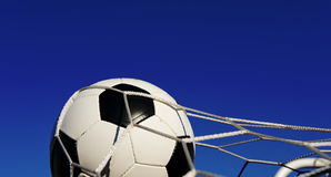 Soccer or Football in Goal Royalty Free Stock Photo