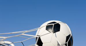 Soccer or Football in Goal Royalty Free Stock Images
