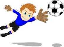 Soccer football goal keeper saving a goal Royalty Free Stock Photo