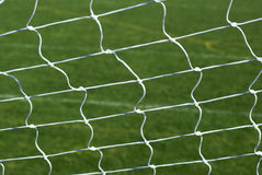 Soccer Football Goal Net. A macro of a white soccer or football net royalty free stock photo