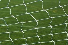 Soccer Football Goal Net. A macro of a white soccer or football net Royalty Free Stock Photo