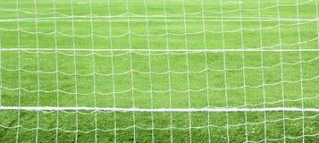 Soccer football goal net Royalty Free Stock Photos
