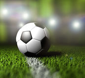 Soccer football on grass Stock Photo
