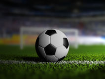 Soccer football on grass Stock Images