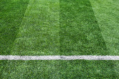 Soccer football grass field Royalty Free Stock Image