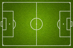 Soccer or football grass field top view Royalty Free Stock Photos