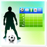 Soccer/Football Group B on Vector Background Royalty Free Stock Image