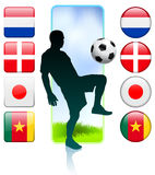 Soccer/Football Group E Stock Image