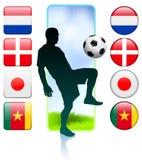 Soccer/Football Group E.  Stock Image