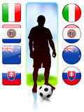 Soccer/Football Group F Stock Photos