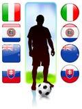 Soccer/Football Group F.  Stock Photos