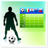 Soccer/Football Group F on Vector Background Stock Photo