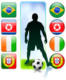 Soccer/Football Group G.  Royalty Free Stock Photography