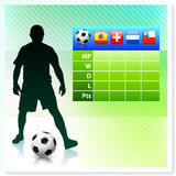 Soccer/Football Group H on Vector Background Royalty Free Stock Photos