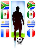 Soccer/Football Group A.  Royalty Free Stock Image