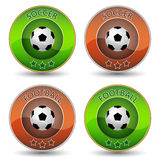 Soccer or football  icon or badge with ball Stock Photo