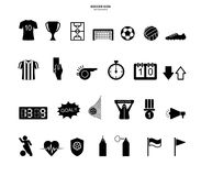 Soccer football icons set. Abstract sport sign and symbol. Vector. vector illustration