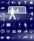 Soccer football icon set Stock Image