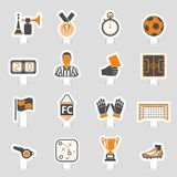 Soccer Icon Sticker Set Stock Photos