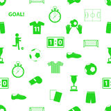 Soccer football icons seamless green icons pattern eps10 Royalty Free Stock Photography
