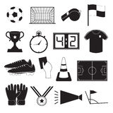 Soccer or Football Icons Set Royalty Free Stock Photos
