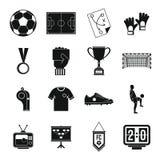 Soccer football icons set, simple style Stock Photos