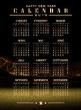 Soccer and football illustration background. Calendar 2016 and happy new year Royalty Free Stock Photo