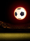 Soccer and football illustration background. Sport abstract background and illustration image Royalty Free Stock Image