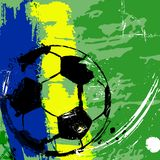 Soccer / football illustration, brazil Royalty Free Stock Images