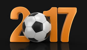 Soccer football with 2017 Royalty Free Stock Photography