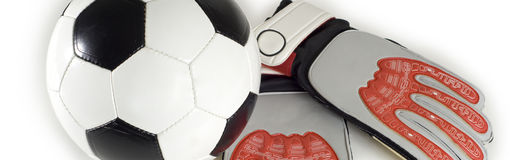 Soccer - Football Items Royalty Free Stock Photography