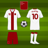 Soccer or football jersey template for your football club. Royalty Free Stock Photos