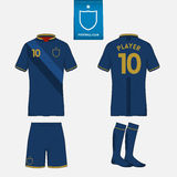 Soccer or football kit template for your sport club. Stock Photography
