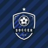 Soccer Football league logo design elements for sport team. Vector illustration Royalty Free Stock Photography
