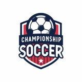 Soccer Football league logo design elements for sport team. Vector illustration Royalty Free Stock Images