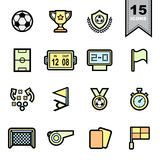 Soccer football  Line icons set Stock Image