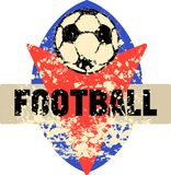 Soccer / Football logo, grungy retro style, Stock Photo