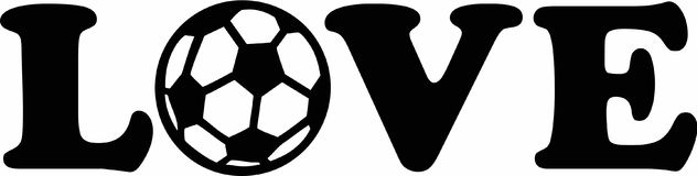 Soccer Football Love. Vector sports Stock Photos