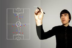 Soccer Football Manager - Counter Attack royalty free stock photos
