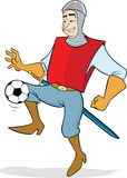 Soccer/Football in medieval times Stock Images