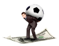 Soccer/football and money Royalty Free Stock Photos