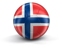Soccer football with Norwegian flag Royalty Free Stock Photography
