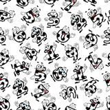 Soccer or football numbers pattern Stock Image
