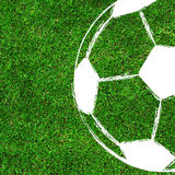 Soccer / Football painting design on green field Royalty Free Stock Image
